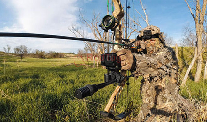 Bow archery rifle gun fishing rod sportsman camera mount for Bow fishing rod