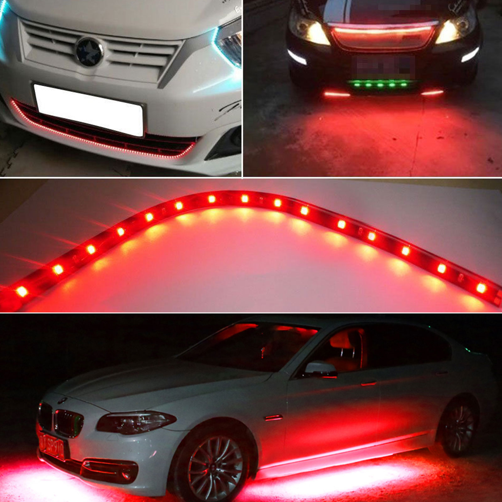 6-12-Pack-Waterproof-Flexible-DC12V-LED-Strip-Underbody-Light-for-Car-Motorcycle thumbnail 16