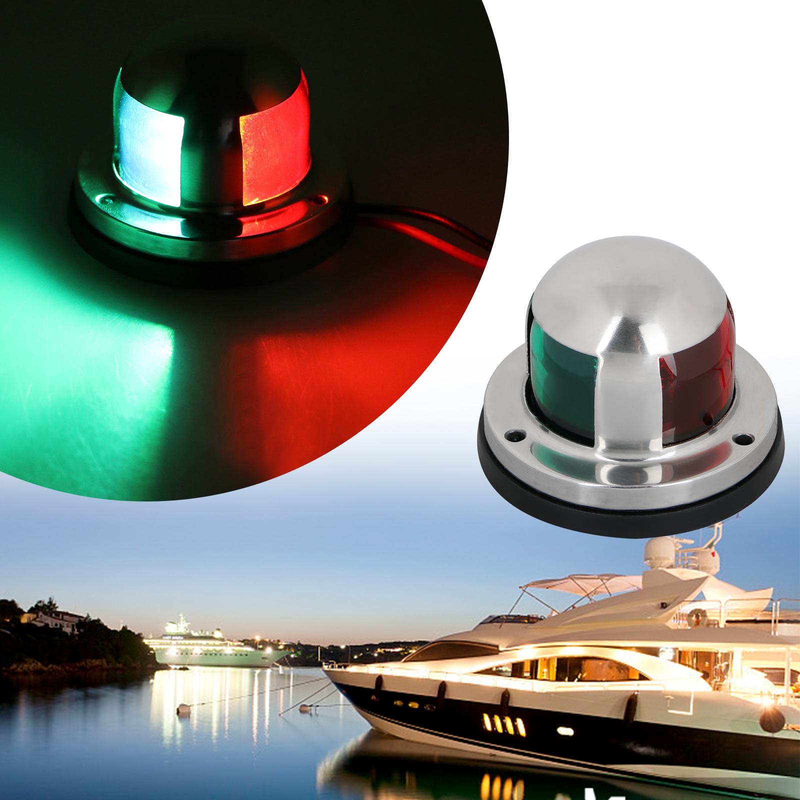 2in1 16 Led Boat Marine Yacht Bow Navigation Indicator Light 12v Lights Lamp Ebay