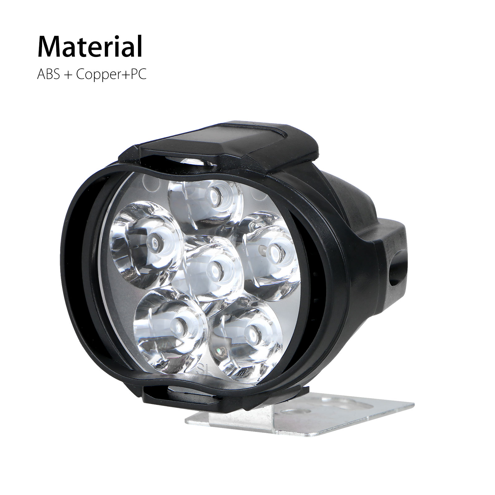 2Pcs-6LED-White-Motorcycle-Headlight-Spot-Light-DRL-Driving-Fog-Lamp-Waterproof thumbnail 6