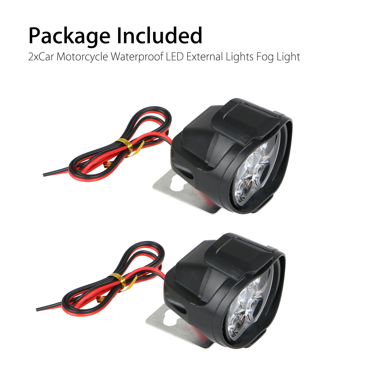 2Pcs-6LED-White-Motorcycle-Headlight-Spot-Light-DRL-Driving-Fog-Lamp-Waterproof thumbnail 8