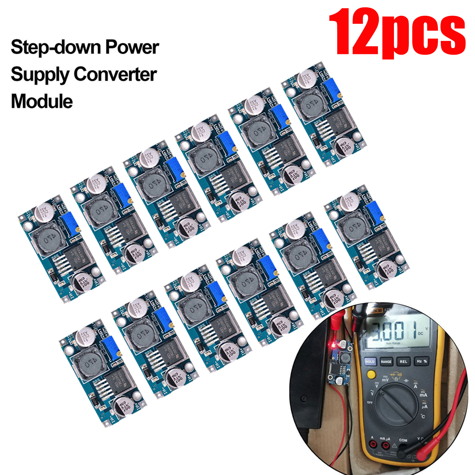 Lot-12x-LM2596S-DC-DC-3A-Buck-Adjustable-Step-down-Power-Supply-Converter-Module