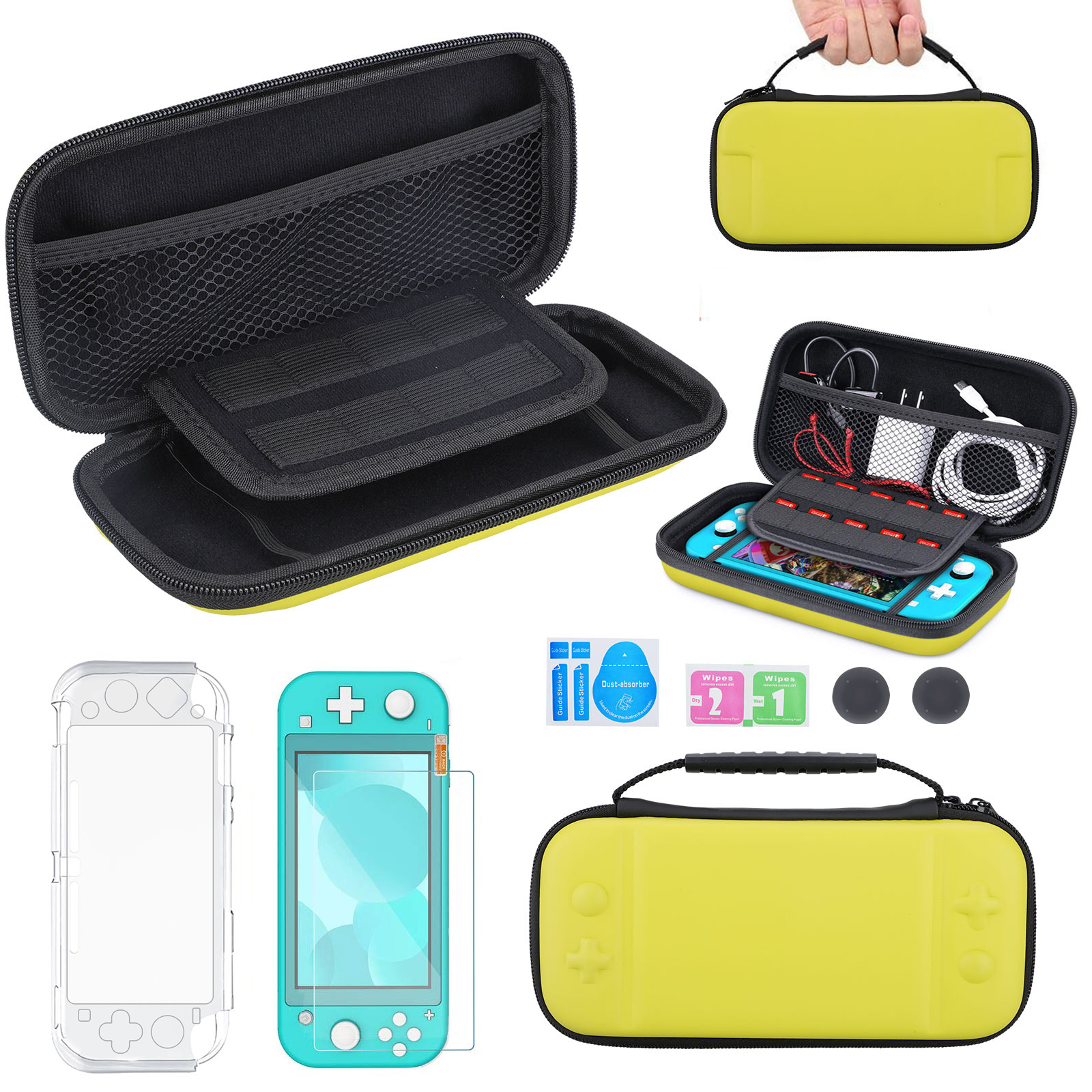 5-in1-Carry-Case-Bag-Shell-Cover-Glass-Screen-Protector-For-Nintendo-Switch-Lite thumbnail 16