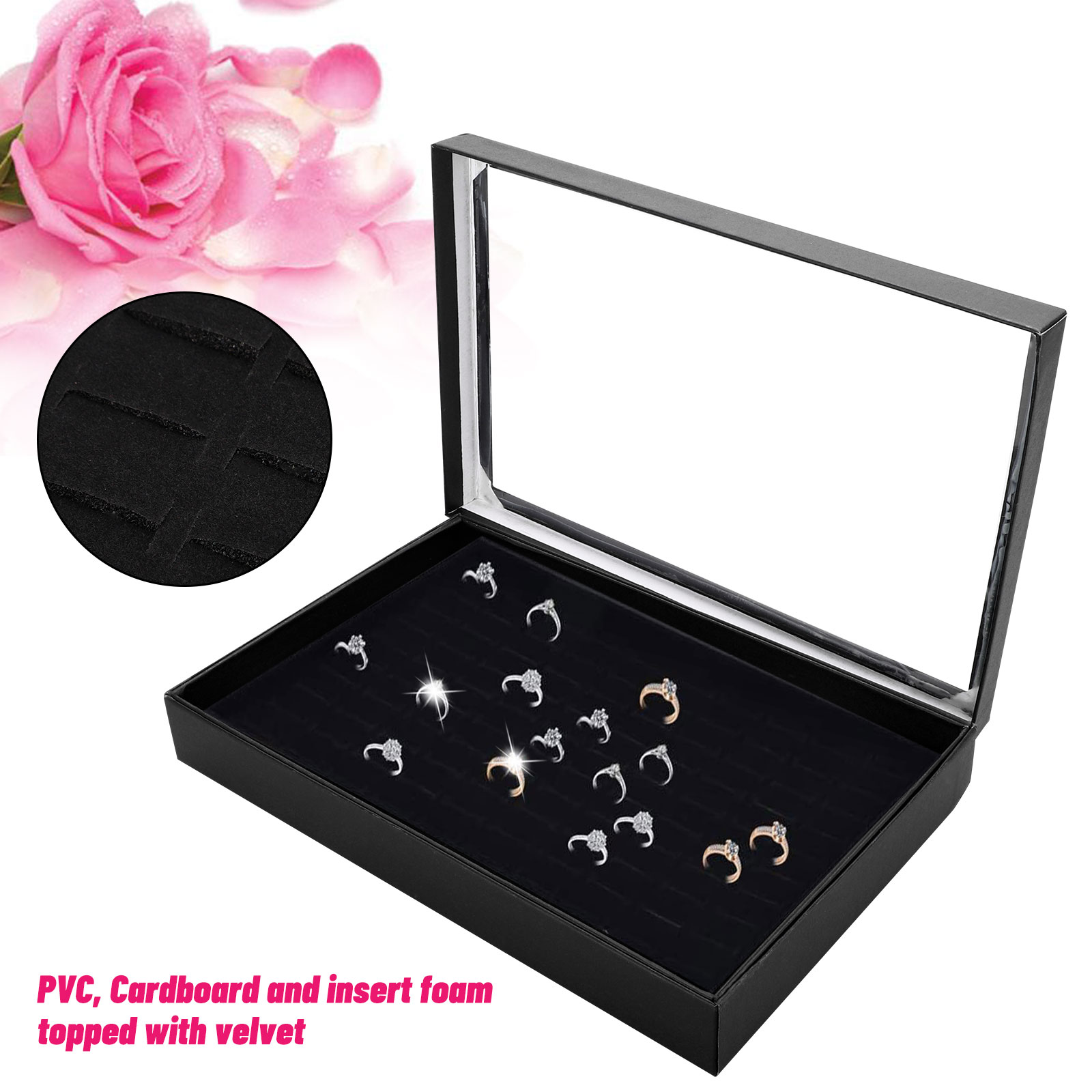 Fashion-Jewelry-Organizer-Box-Holder-Tray-Case-For-Ring-Earring-Storage-Display thumbnail 3