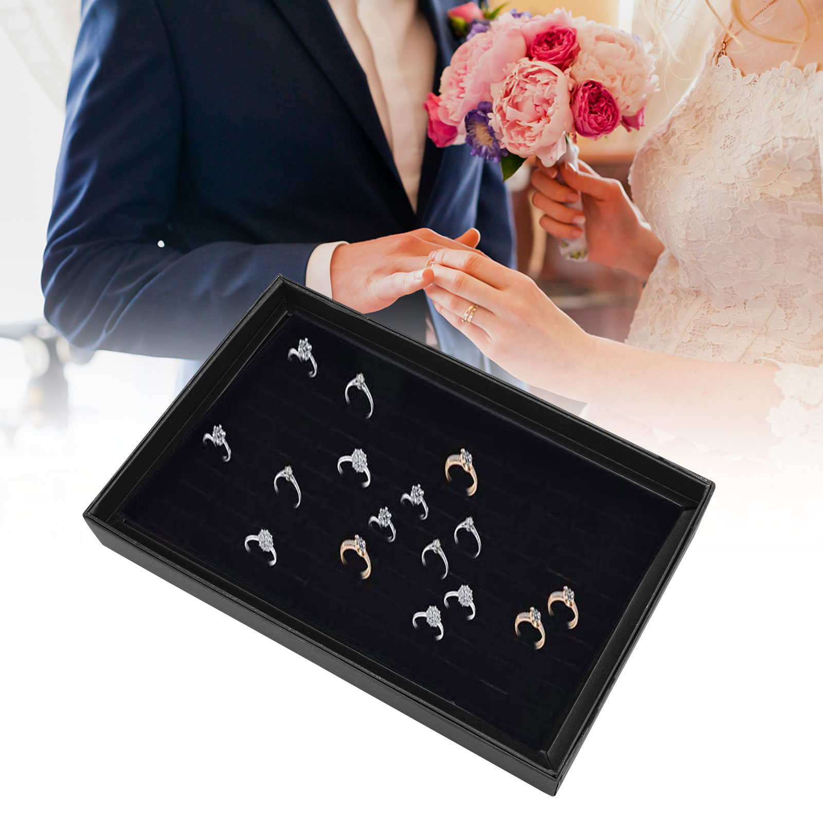 Fashion-Jewelry-Organizer-Box-Holder-Tray-Case-For-Ring-Earring-Storage-Display thumbnail 5