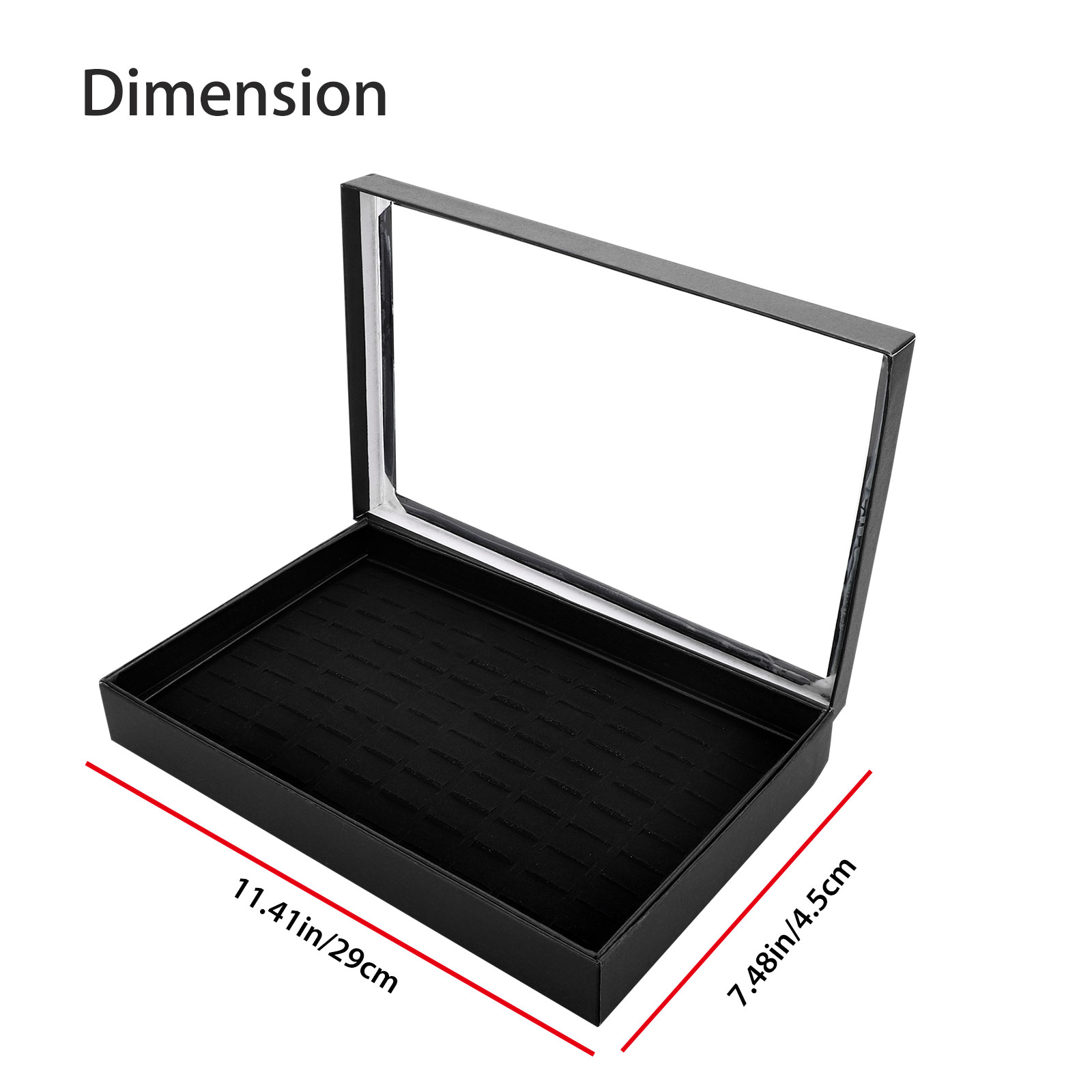 Fashion-Jewelry-Organizer-Box-Holder-Tray-Case-For-Ring-Earring-Storage-Display thumbnail 6