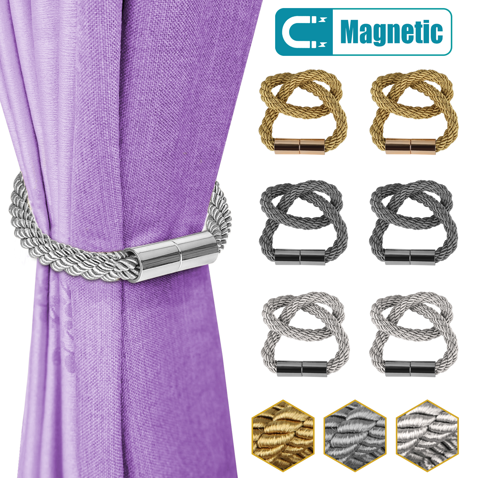 2 4 6 8pcs strong magnetic curtain