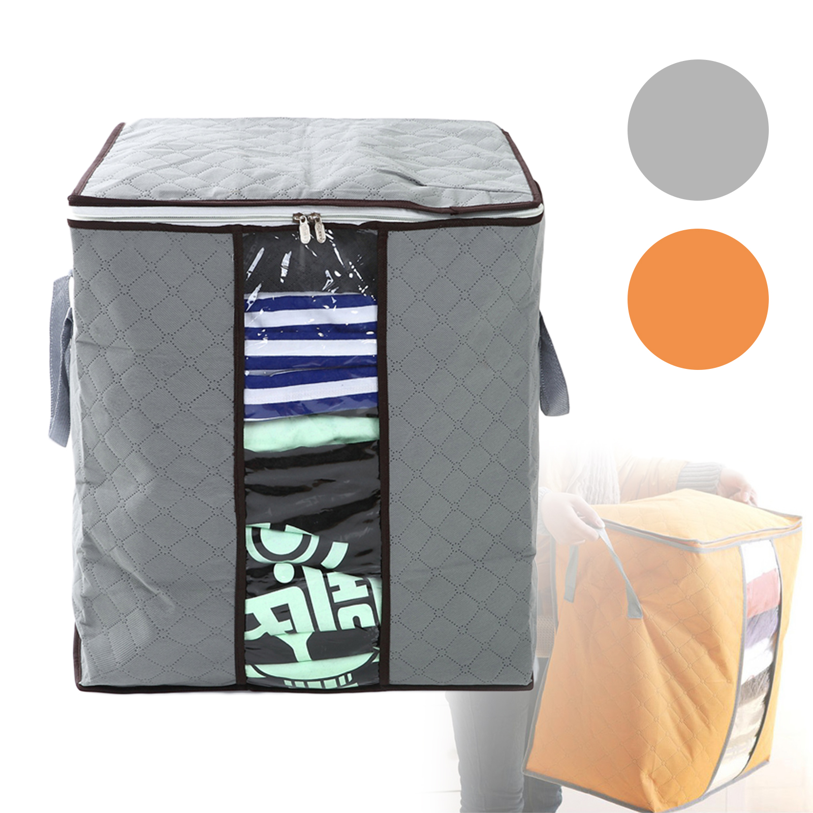 Anti-Dust-Large-Storage-Bag-Clothes-Quilt-Blanket-Storage-Sort-Bag-for-organizer thumbnail 1