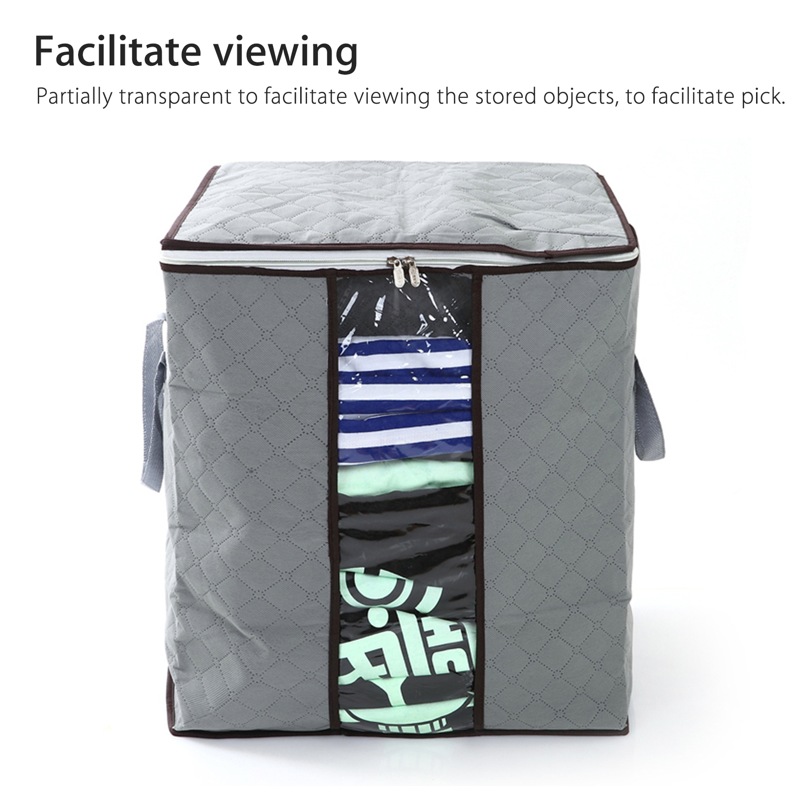 Anti-Dust-Large-Storage-Bag-Clothes-Quilt-Blanket-Storage-Sort-Bag-for-organizer thumbnail 3