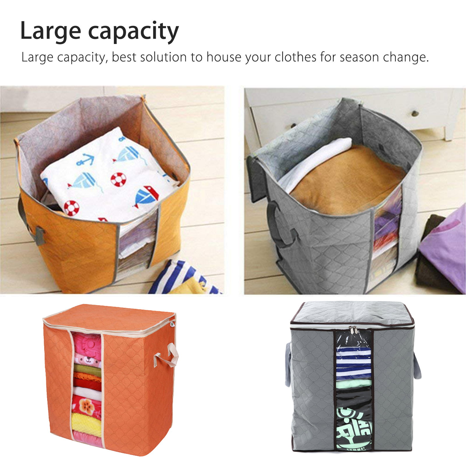 Anti-Dust-Large-Storage-Bag-Clothes-Quilt-Blanket-Storage-Sort-Bag-for-organizer thumbnail 4