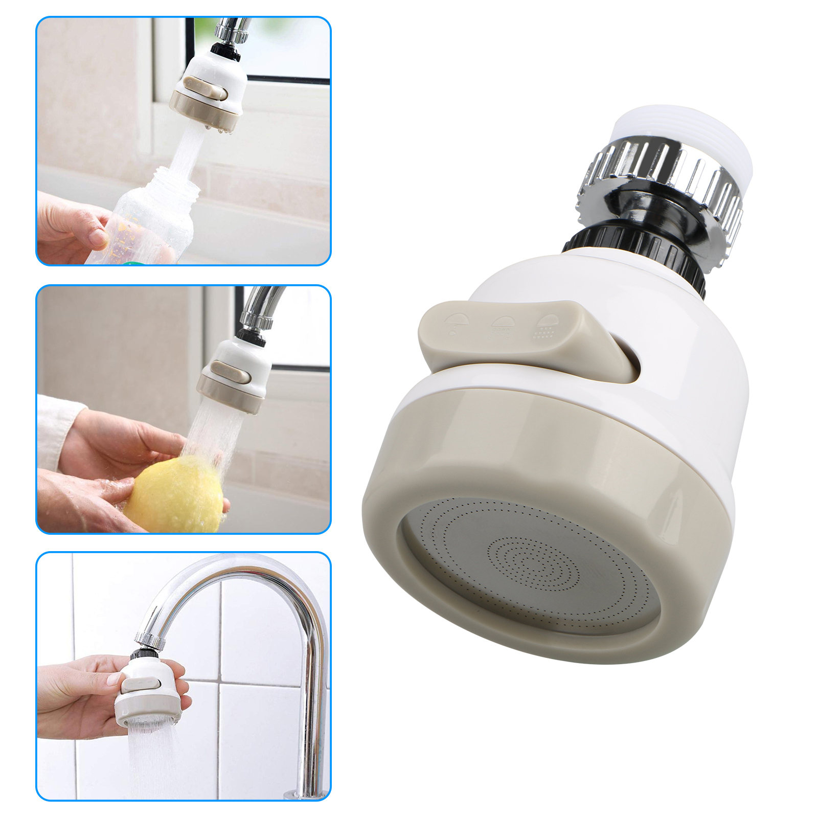 Kitchen-Sink-Faucet-Spray-Head-360-Swivel-Pull-Out-Spray-Head-Replacement-Part thumbnail 10