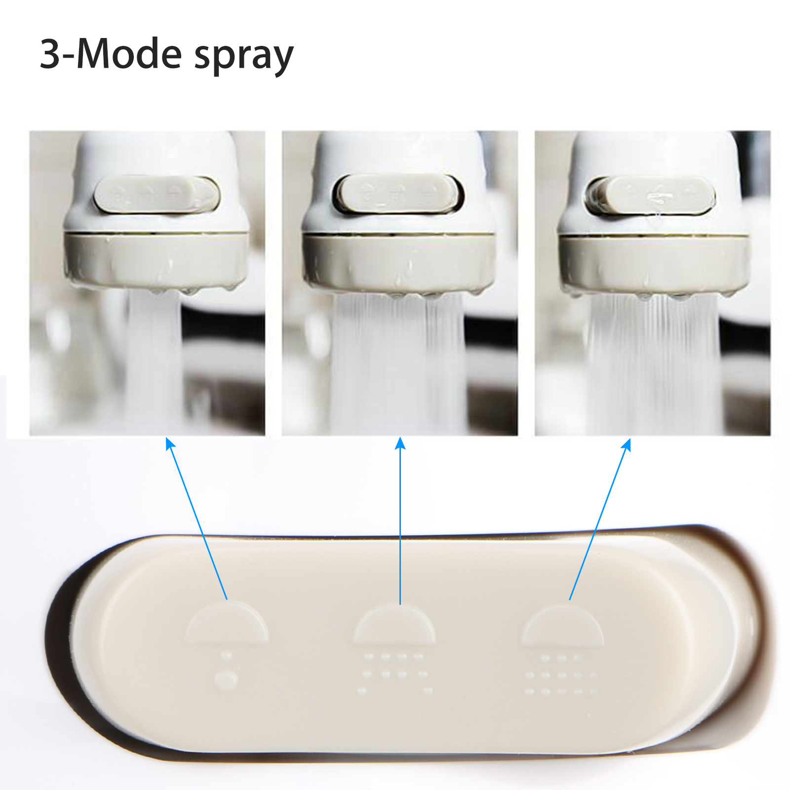 Kitchen-Sink-Faucet-Spray-Head-360-Swivel-Pull-Out-Spray-Head-Replacement-Part thumbnail 2