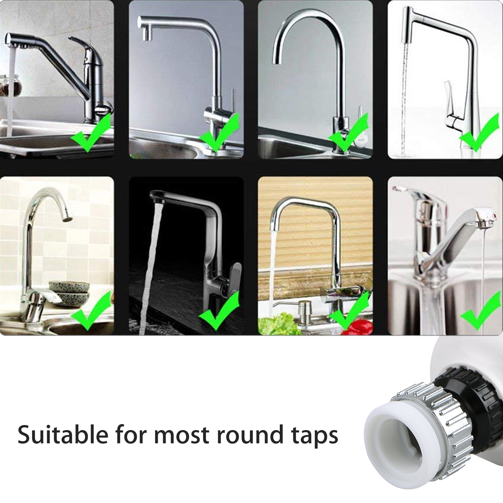 Kitchen-Sink-Faucet-Spray-Head-360-Swivel-Pull-Out-Spray-Head-Replacement-Part thumbnail 6