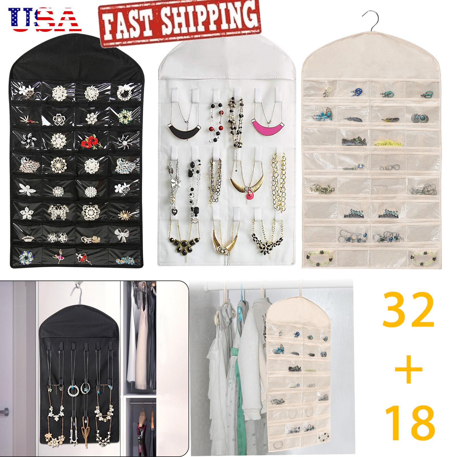 Image Is Loading Closet Hanging Jewelry Organizer Necklace Storage Holder Bag