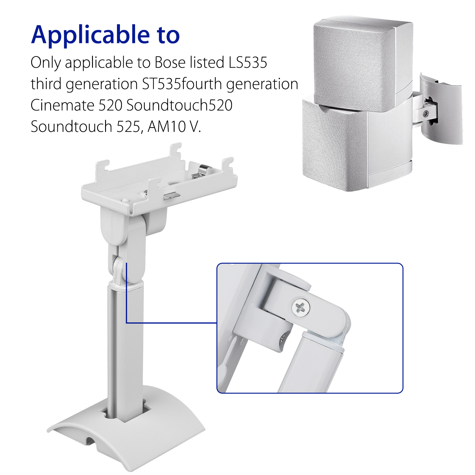 UB20-SERIES-2-II-Wall-Ceiling-Bracket-Mount-fits-for-Bose-all-Lifestyle-CineMate thumbnail 3