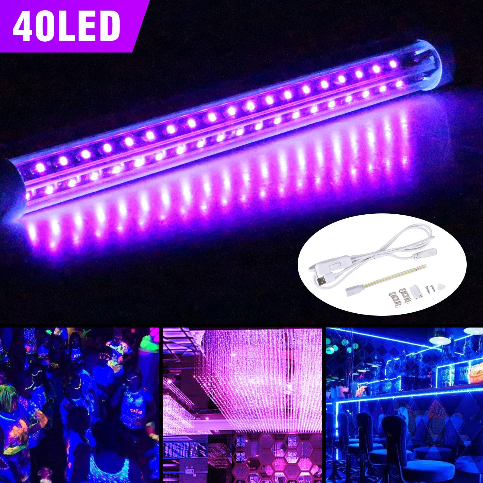 US 10W 40 LED 5V UV Ultraviolet Strip Tube Light Bar USB Par