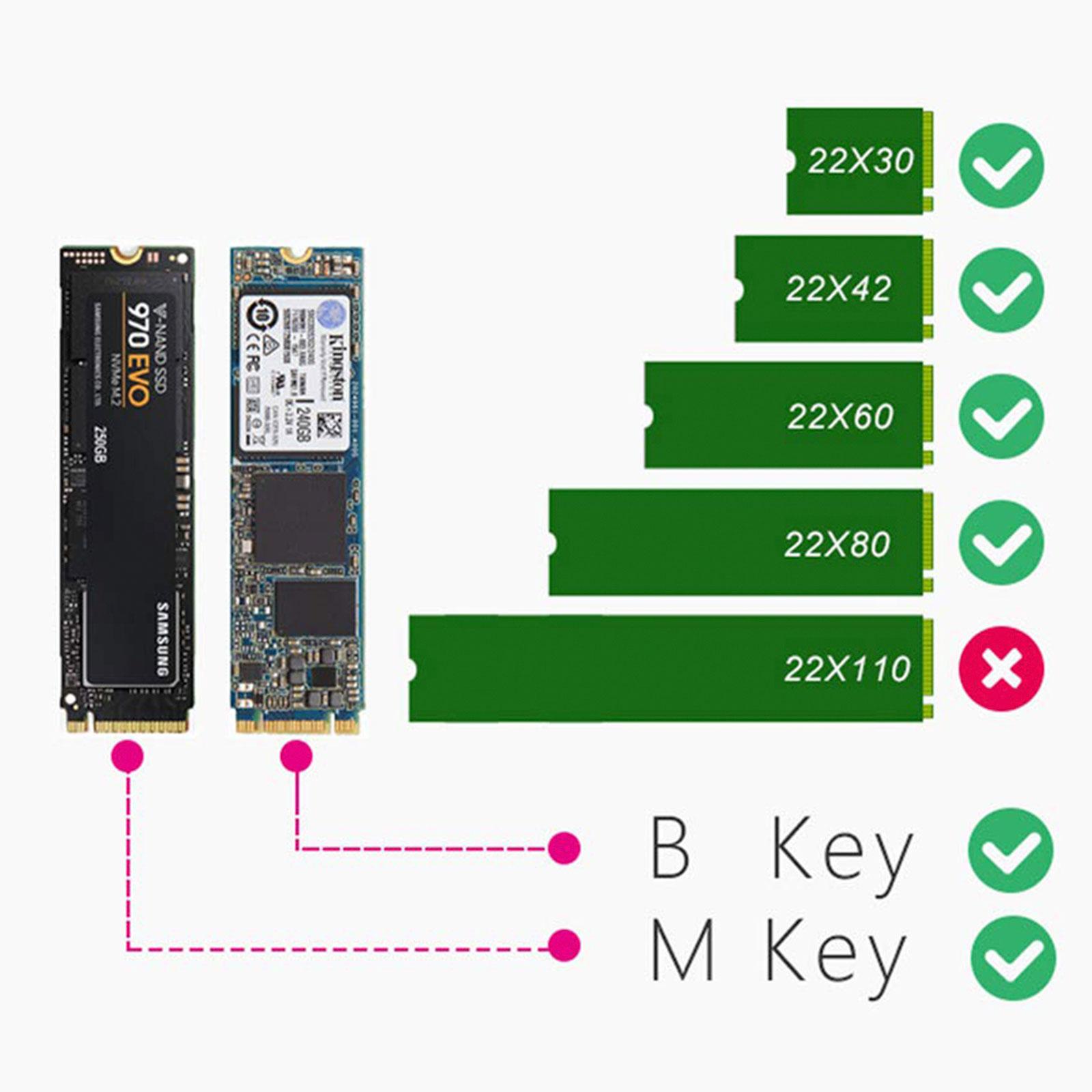 M-2-NGFF-to-Computer-SATA-Dual-SSD-PCI-PCIe-x4-x8-x16-NVMe-Express-Adapter-Card thumbnail 2