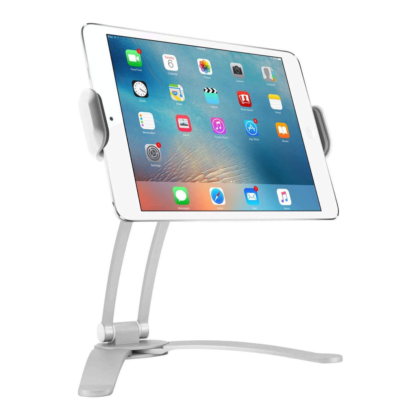 Kitchen Wall/Desktop Recipe Lazy Mount Stand Holder for 3-10\