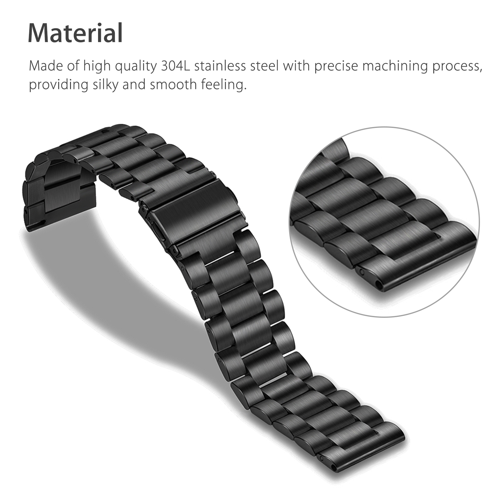 Replacement-Stainless-Steel-Watch-Band-Strap-For-Samsung-Galaxy-Watch-42mm-46mm