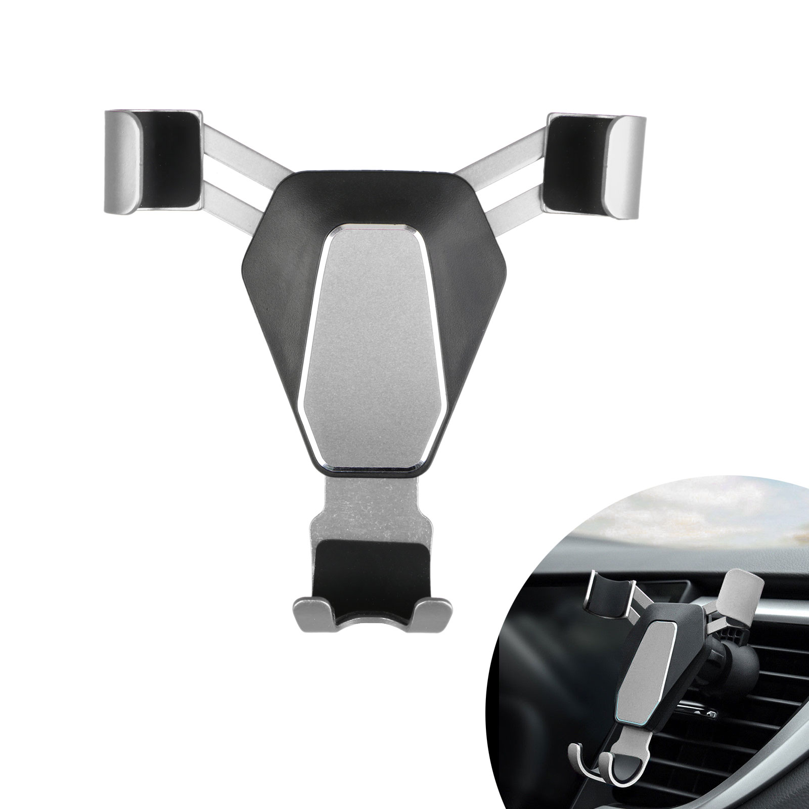 360-Gravity-Car-Phone-Holder-Air-Vent-Mount-Stand-for-iPhone-X-8-Samsung-S9-S8 thumbnail 10