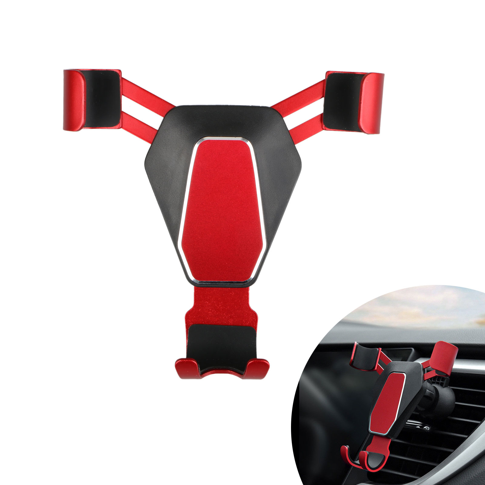 360-Gravity-Car-Phone-Holder-Air-Vent-Mount-Stand-for-iPhone-X-8-Samsung-S9-S8 thumbnail 11