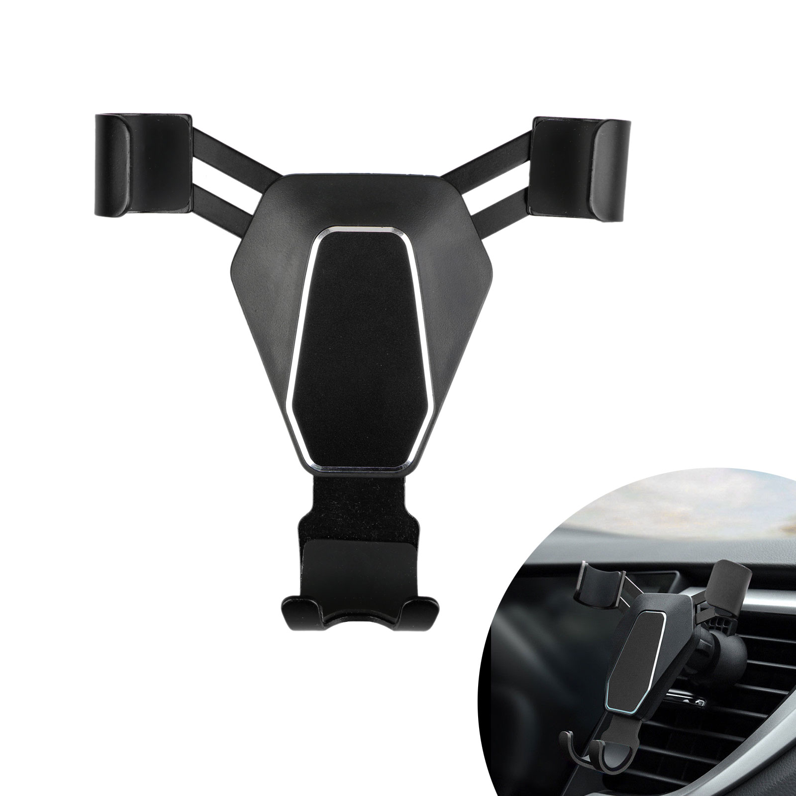 360-Gravity-Car-Phone-Holder-Air-Vent-Mount-Stand-for-iPhone-X-8-Samsung-S9-S8 thumbnail 9