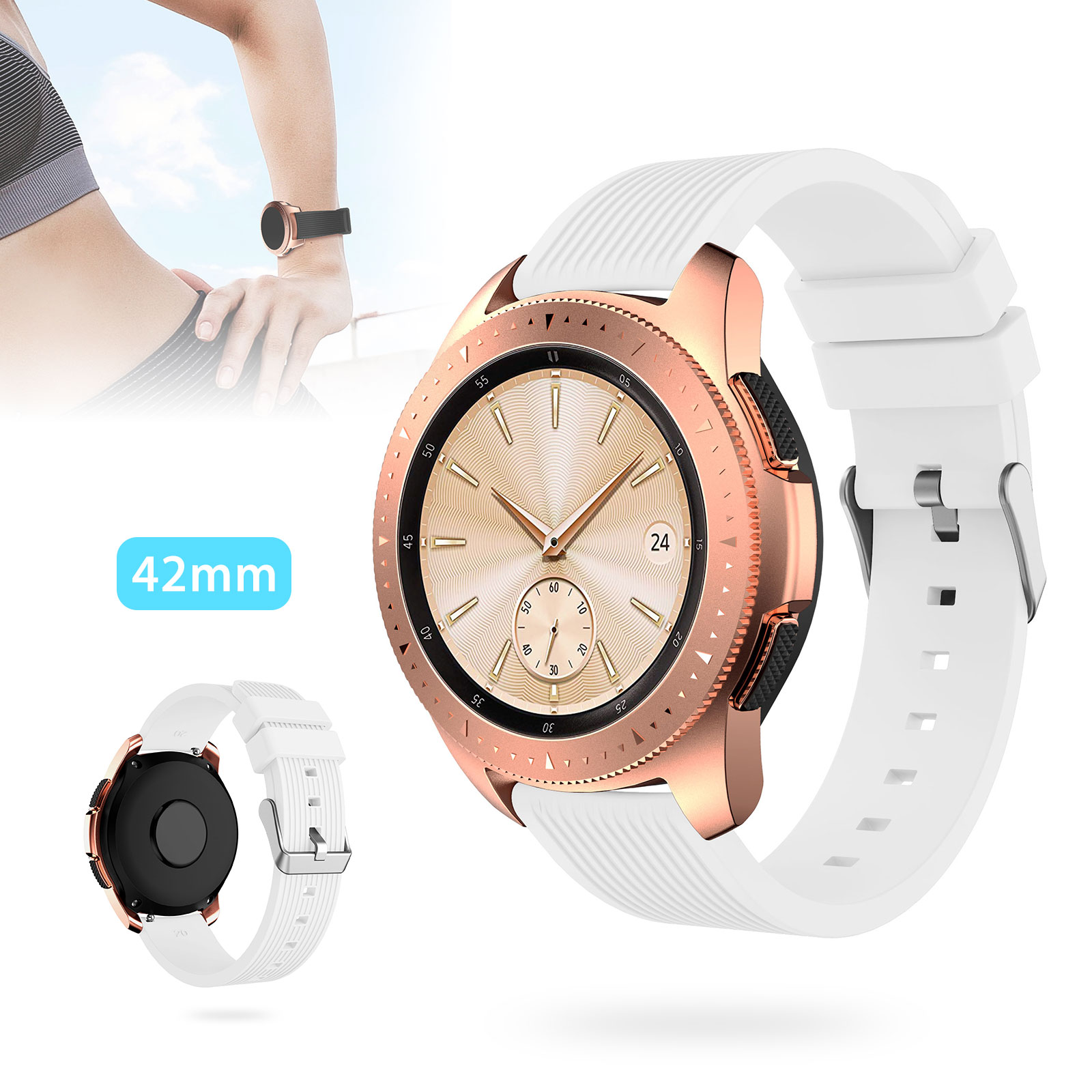 Silicone-Bracelet-Strap-Replacement-Watch-Band-For-Samsung-Galaxy-Watch-42mm thumbnail 17