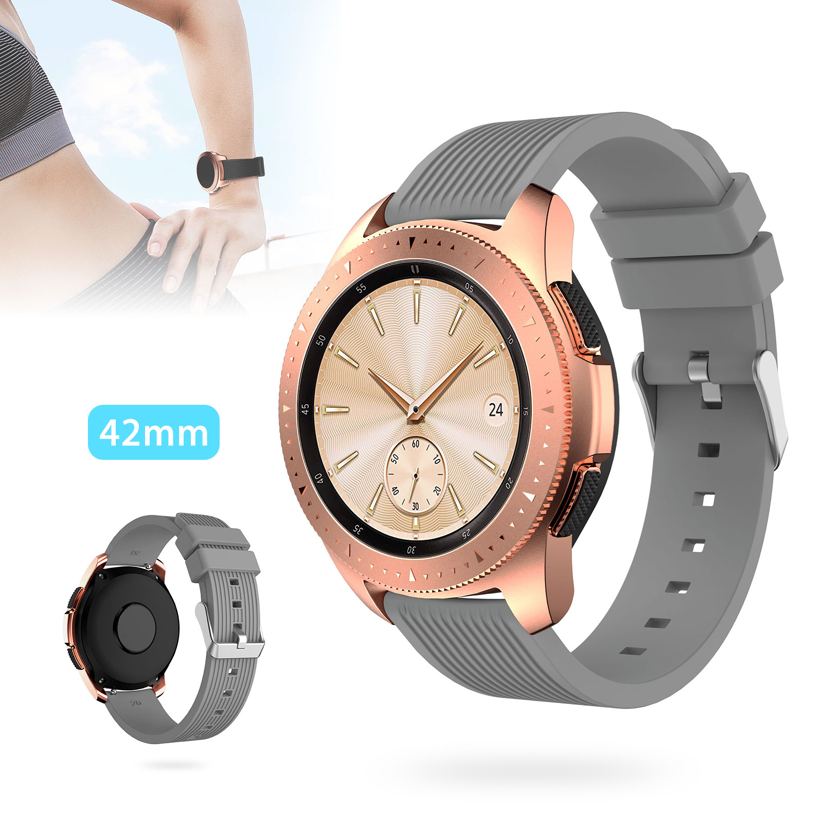 Silicone-Bracelet-Strap-Replacement-Watch-Band-For-Samsung-Galaxy-Watch-42mm thumbnail 14