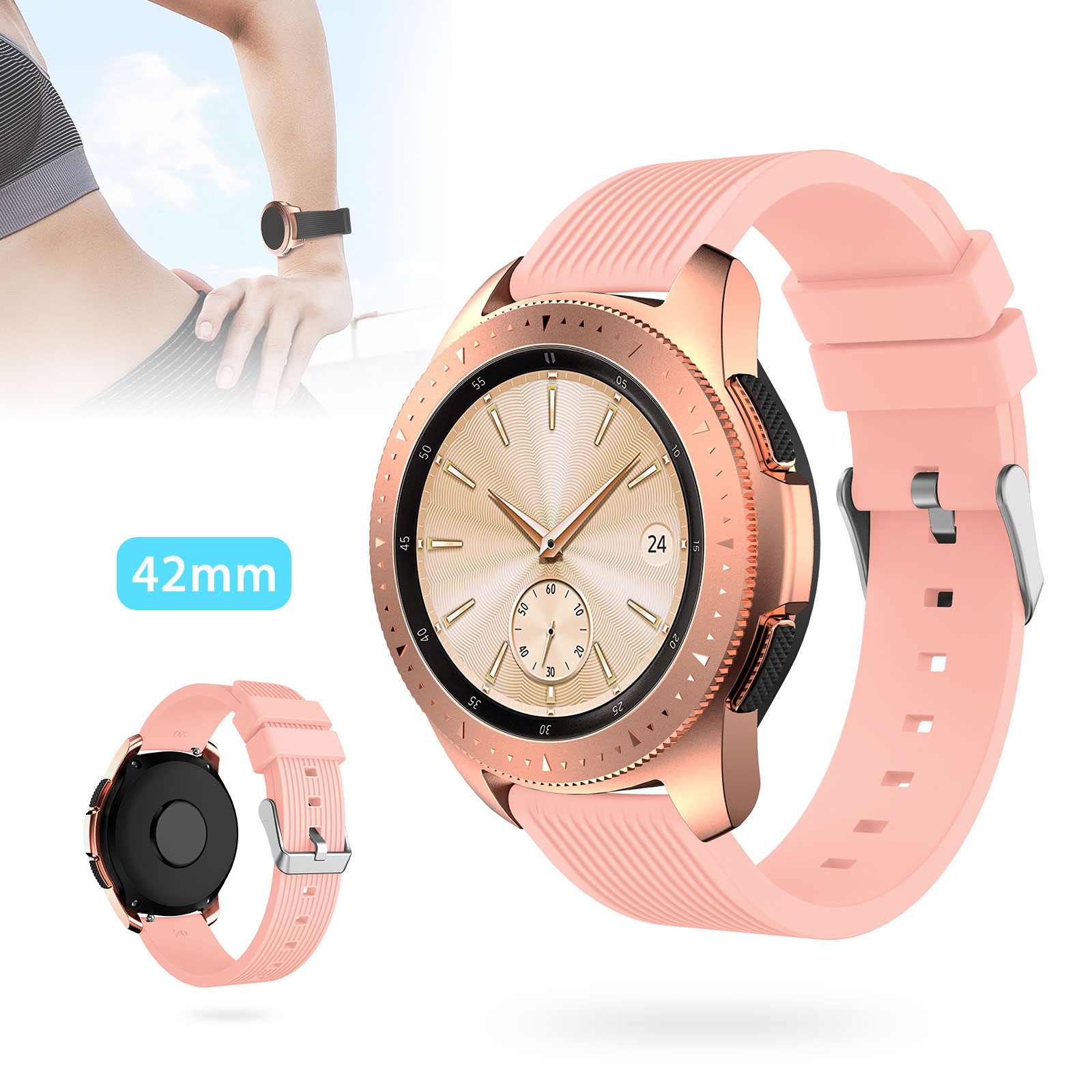 Silicone-Bracelet-Strap-Replacement-Watch-Band-For-Samsung-Galaxy-Watch-42mm thumbnail 15