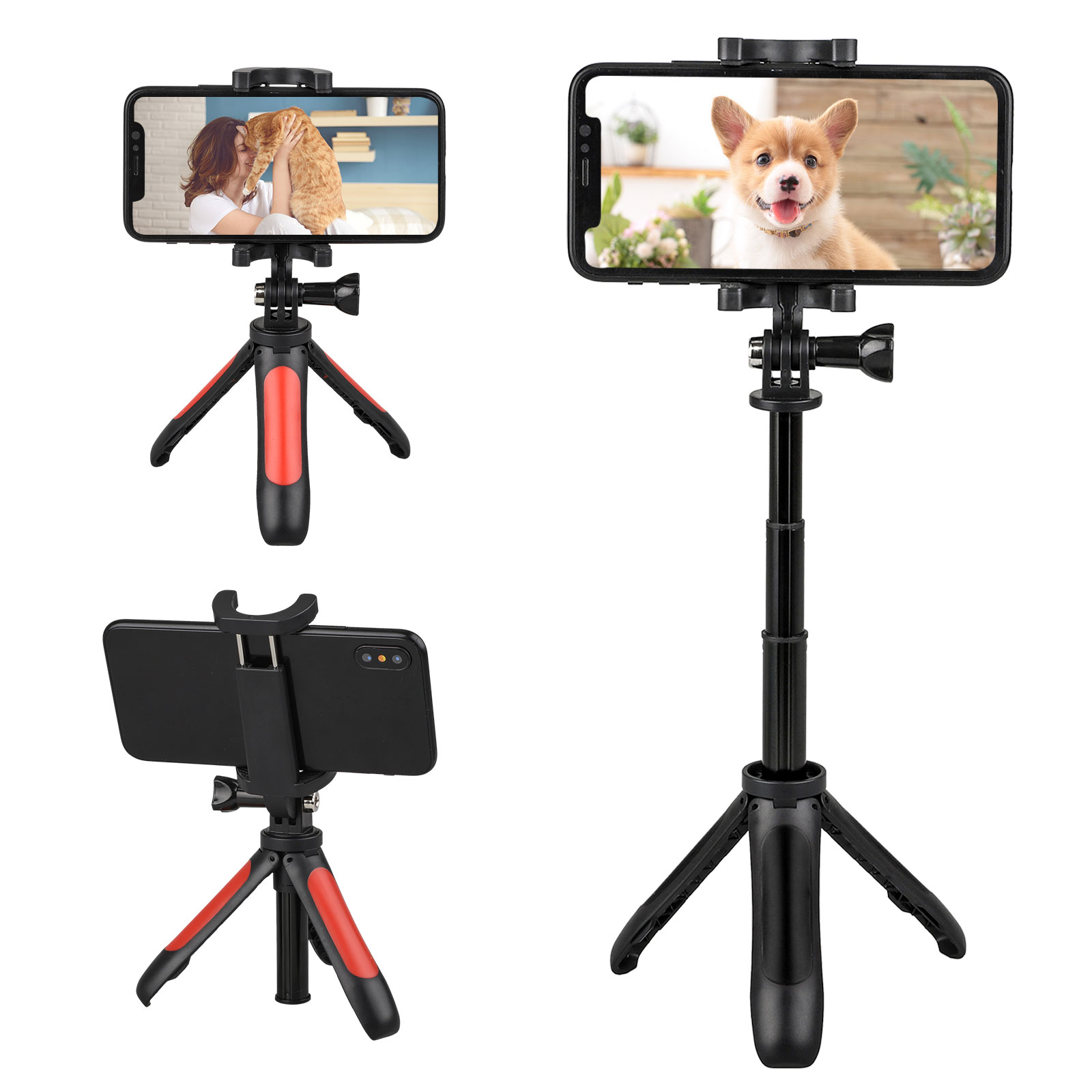 portable professional adjustable camera tripod stand mount