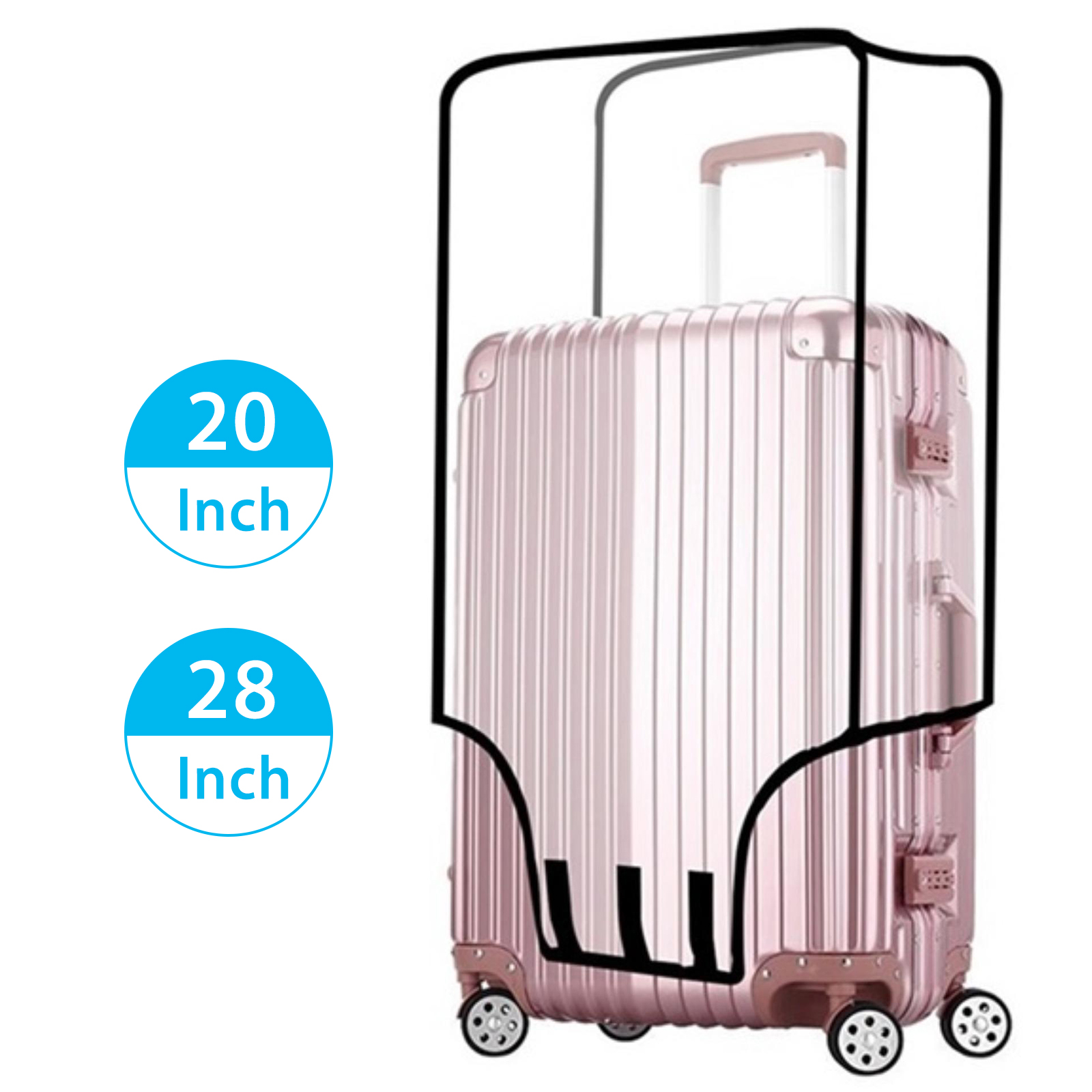 Waterproof-Transparent-Travel-Protective-Luggage-Suitcase-Cover-Protector-20-28-034 thumbnail 9