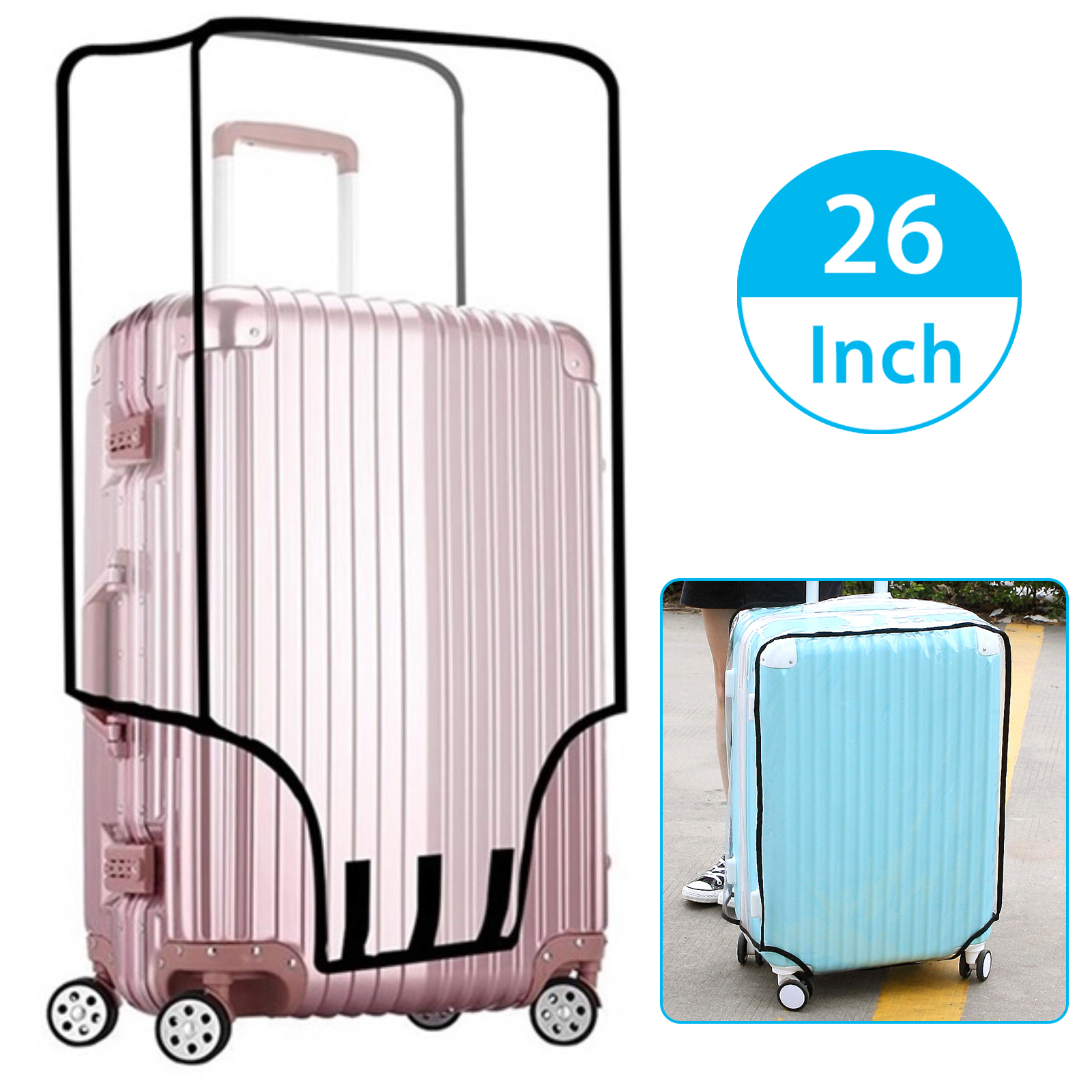 Waterproof-Transparent-Travel-Protective-Luggage-Suitcase-Cover-Protector-20-28-034 thumbnail 12