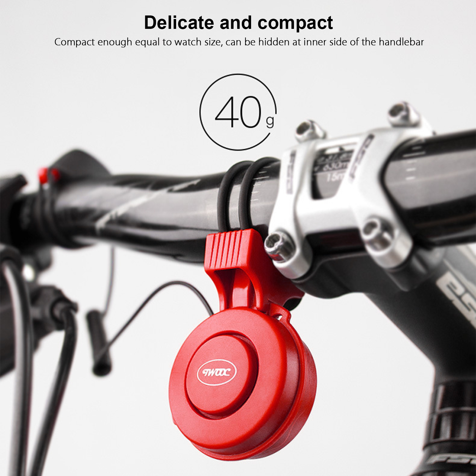 Bike Handlebar Electric Bell Ring Waterproof Bicycle Horn Alarm USB Rechargeable