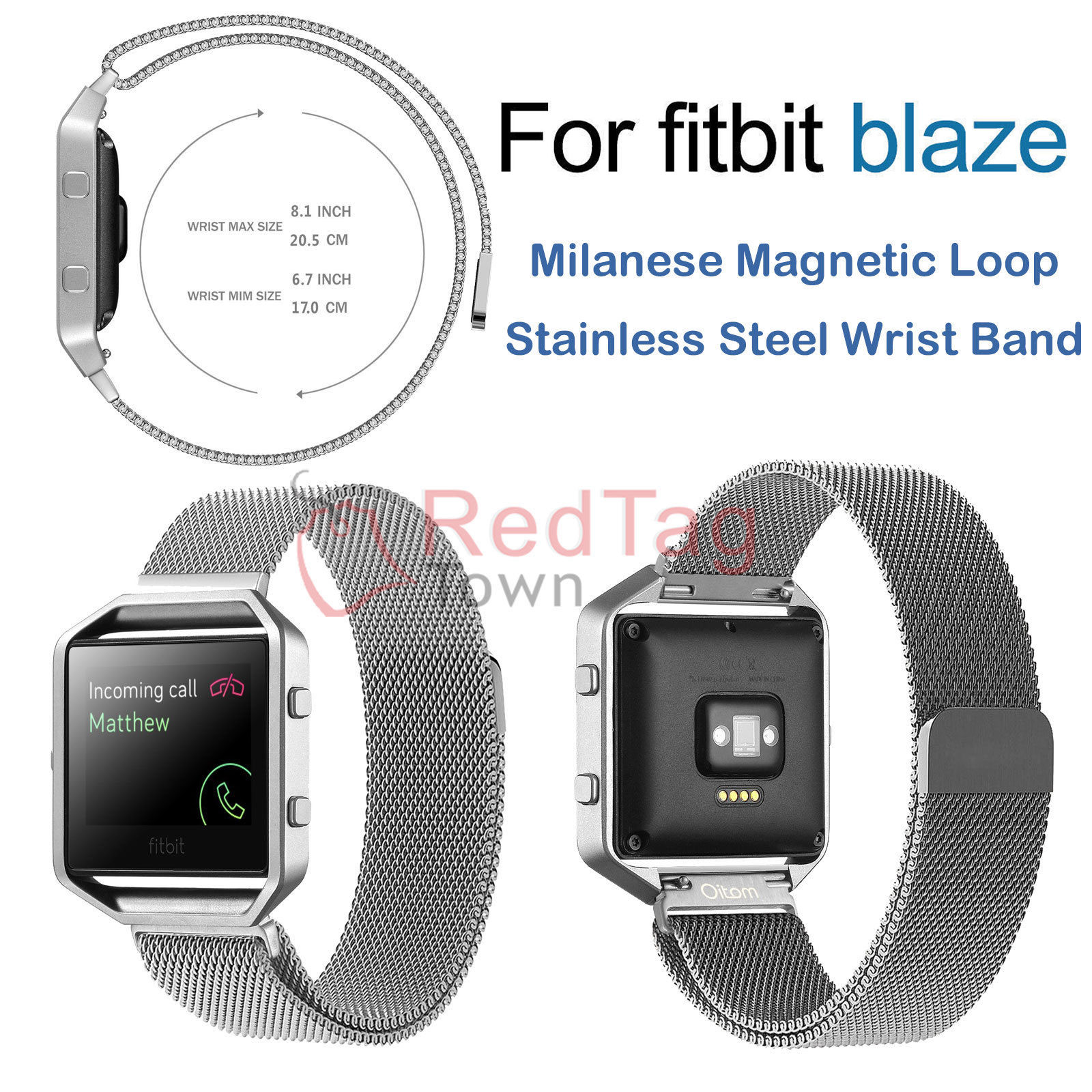 Milanese-Magnetic-Loop-Metal-Wrist-Watch-Band-Strap-Replacement-For-Fitbit-Blaze thumbnail 18
