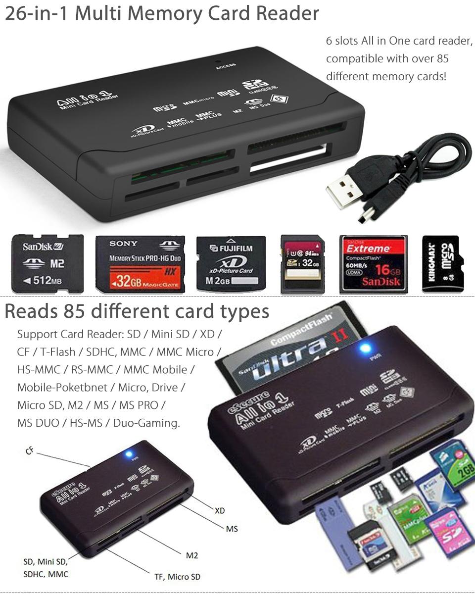 ORG HP 8-in-1 Multi Card Reader USB//SD//XD 5069-6732 NEW