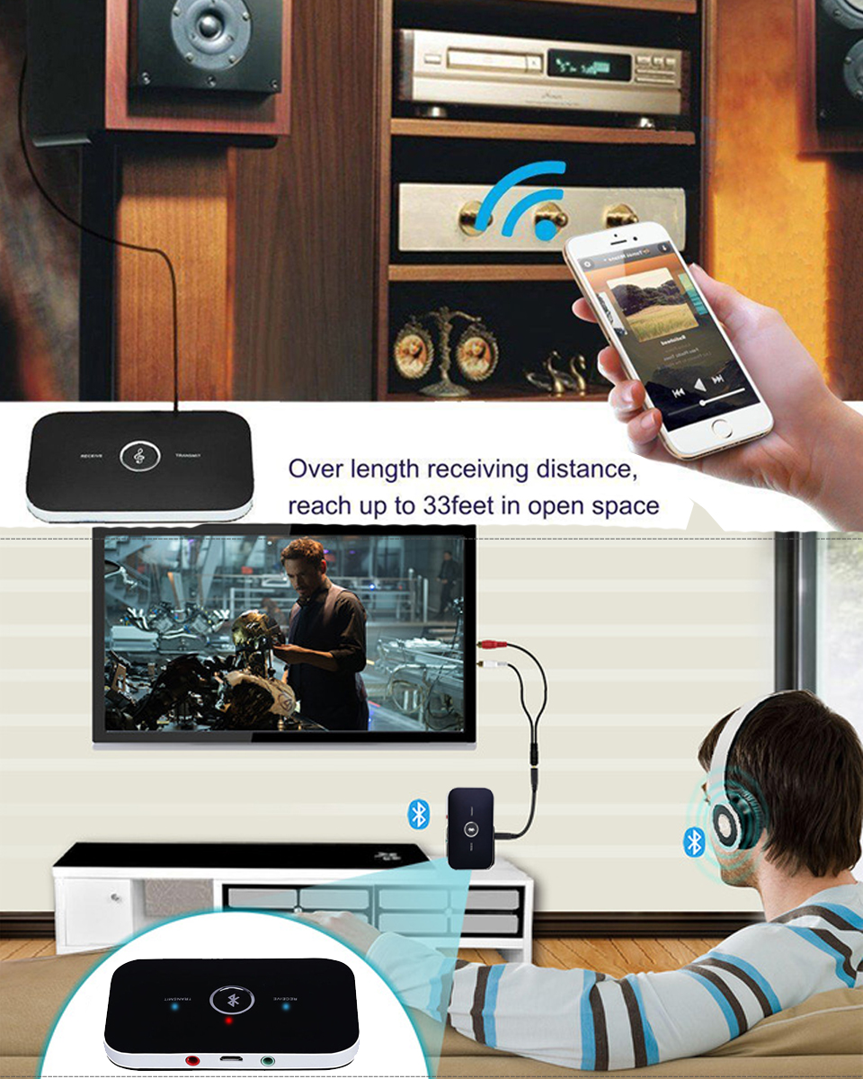 2 In 1 Wireless Bluetooth Transmitter + Receiver A2DP